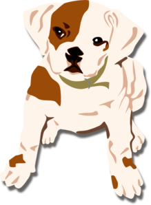 Triangle clip bulldog. Free puppy cliparts download