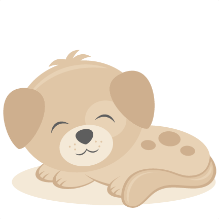 Sleeping scrapbook cut file. Puppy svg library