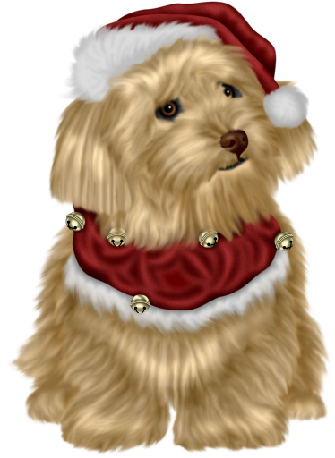 merry christmas clipart dog