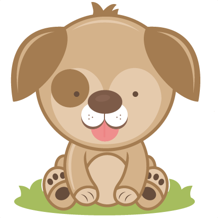 Puppy clipart 4 puppy. Svg cutting file cut