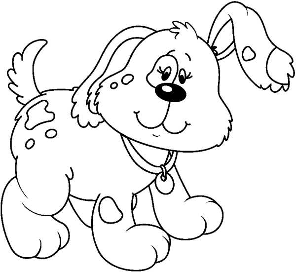 Puppy clipart black and white. Station school