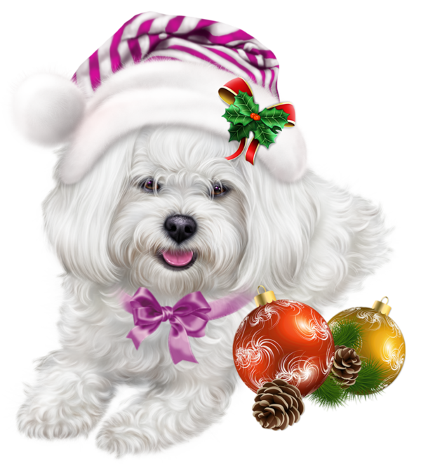 Merry Christmas Puppies.Puppy Merry Christmas Transparent Png Clipart Free