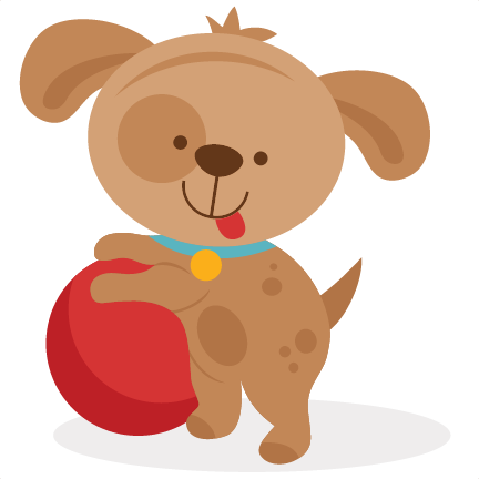 Puppy svg. Playing scrapbook cut file download