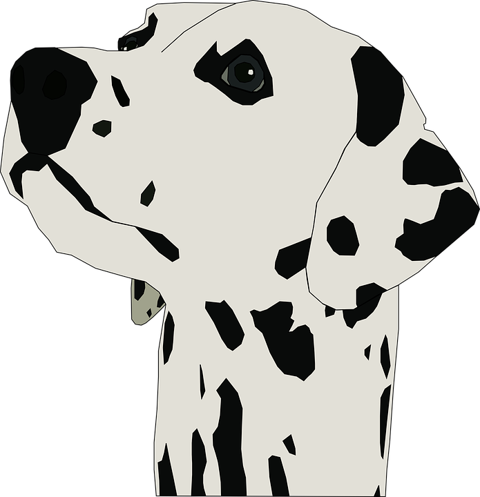Puppy svg traceable. Dalmatian clipart graphics illustrations