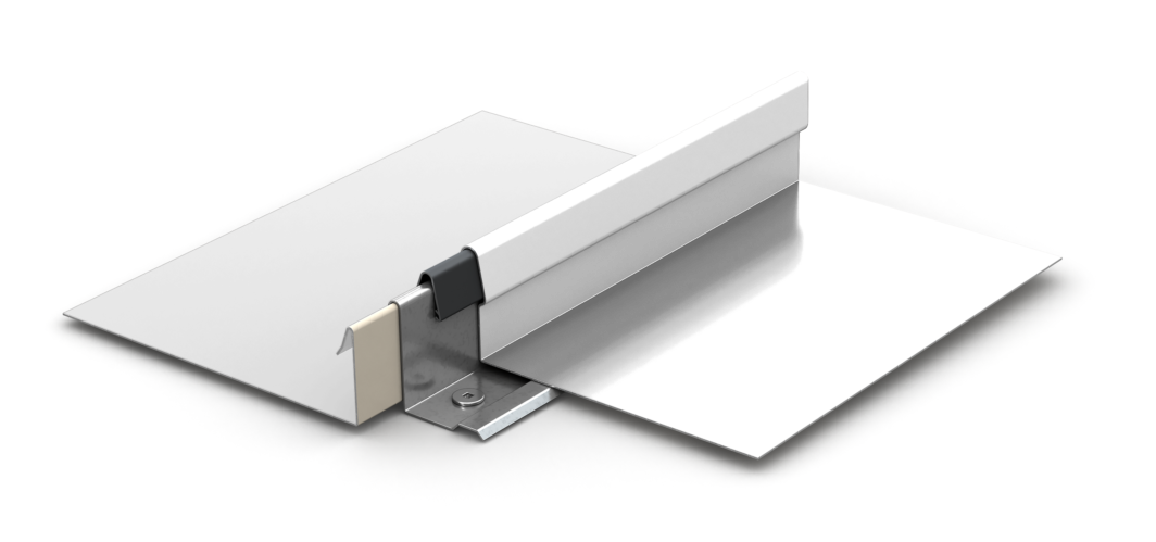 Purlin clip cee. Lock panel standing seam