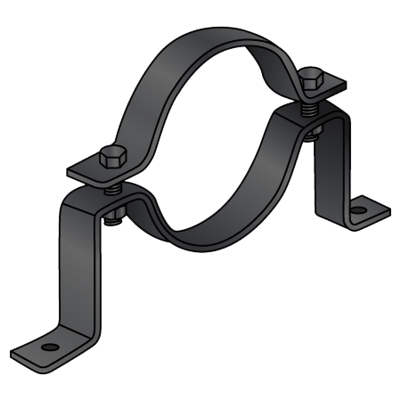 Purlin clip fasteners. Offset pipe clamp