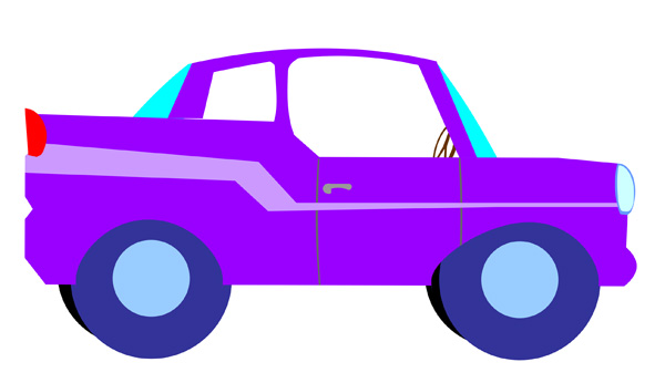 Violet truck. Free cartoon car images