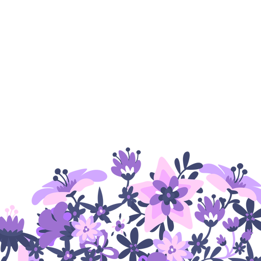 Lavender flower png. Purple floral background transparent