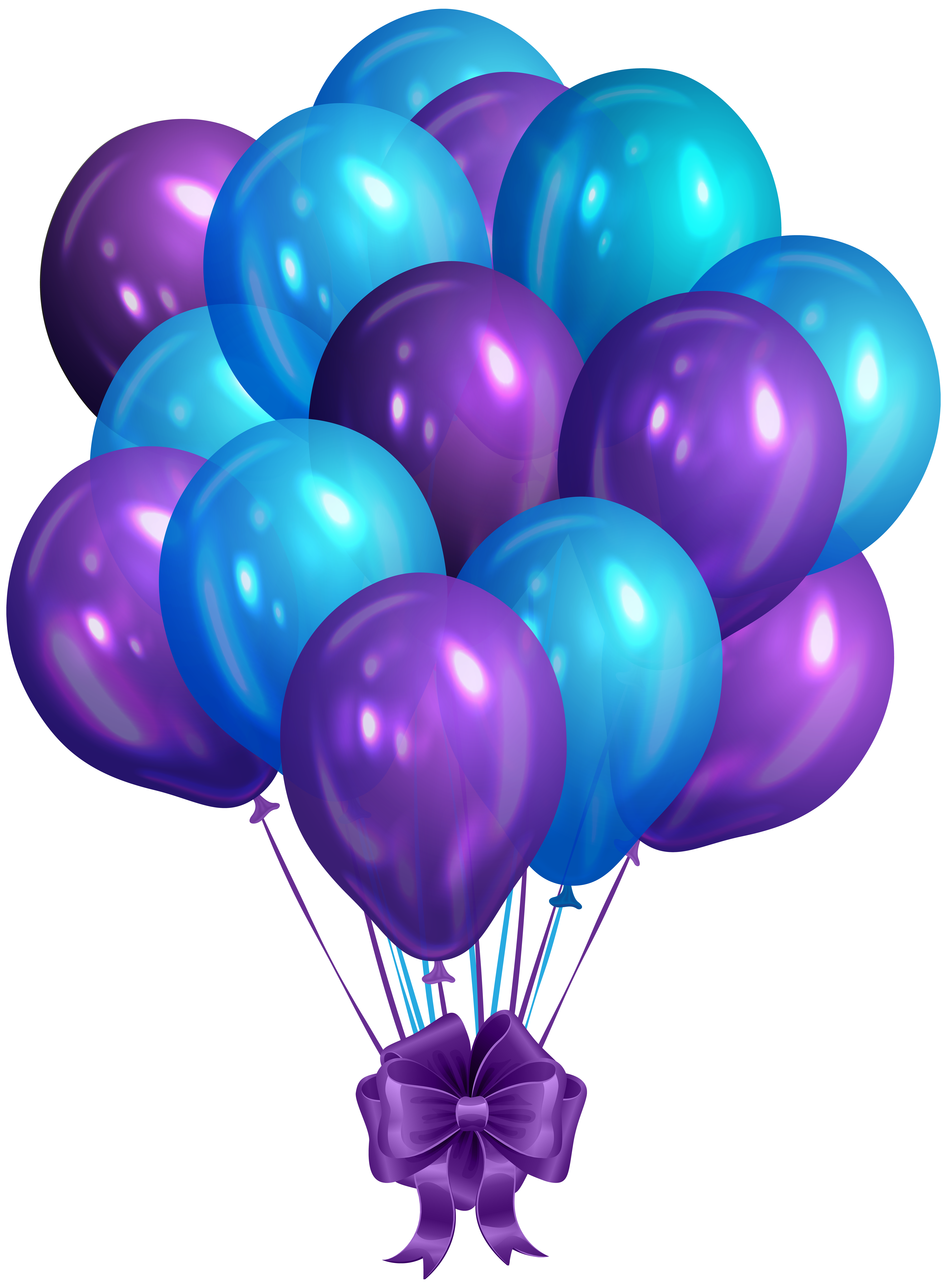 Purple balloons png. Blue bunch of clip
