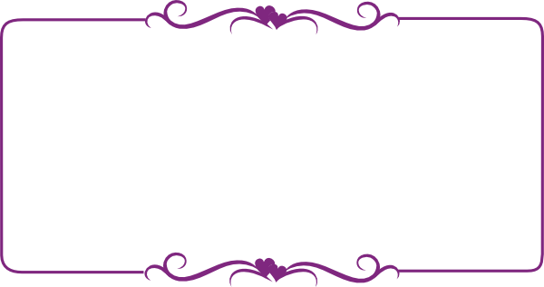 Purple border png. Decorative clip art at