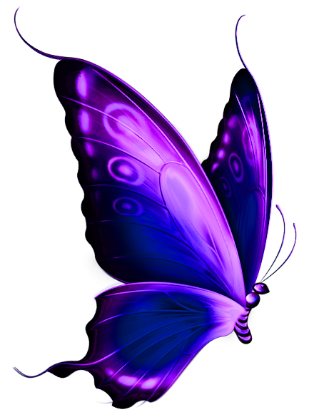 Purple butterfly png. Brown craft paper mason