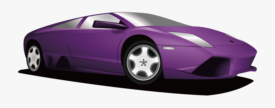 Purple car. Clipart of a free