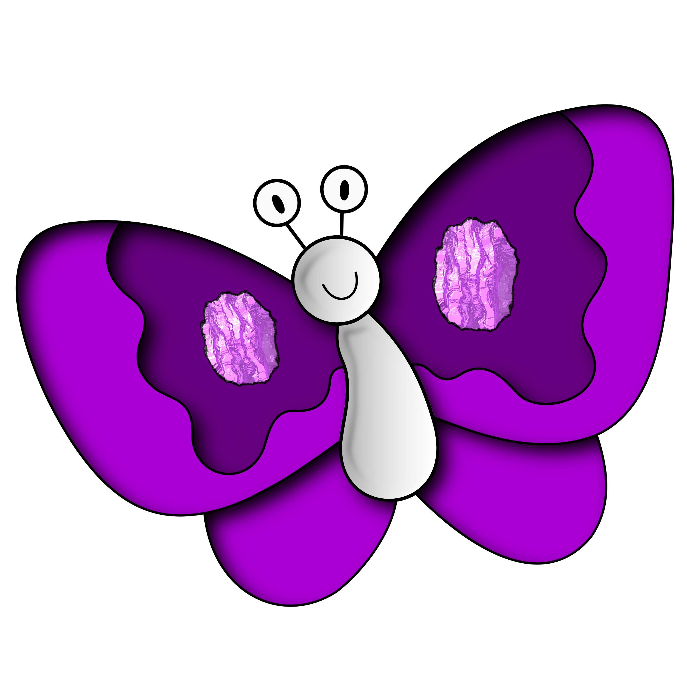 Purple clipart. Butterfly big image png