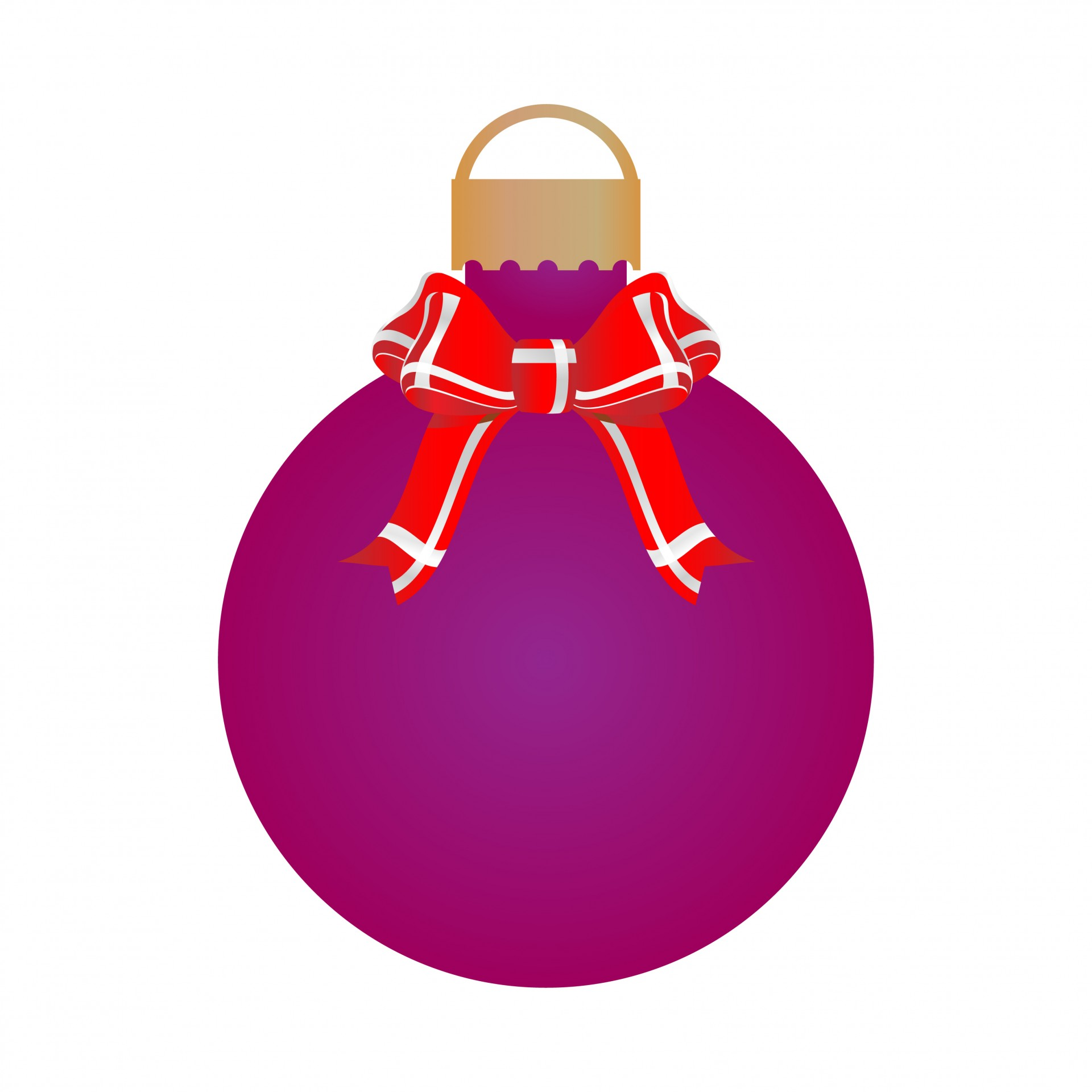 Purple clipart bauble. Christmas ribbons bow free