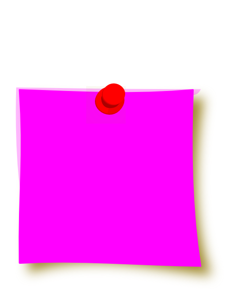 Purple clipart sticky note. New pink clip art