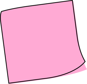 pink post it note png