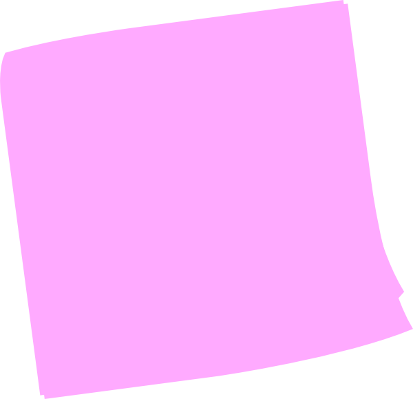 Purple clipart sticky note. Pink post it clip