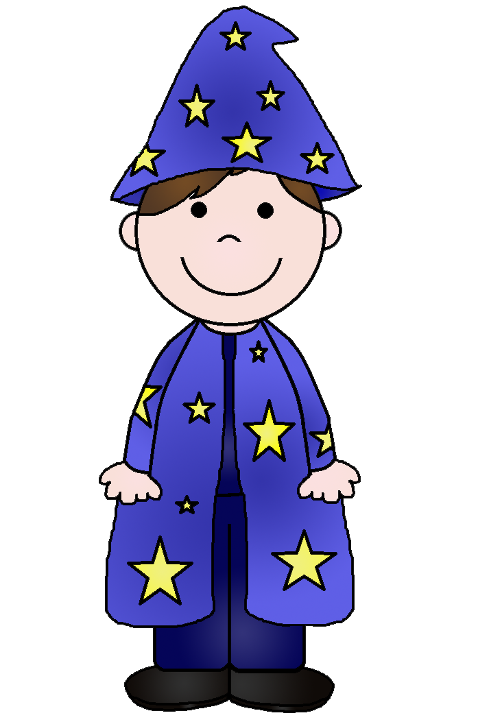 Purple clipart wizard. Young
