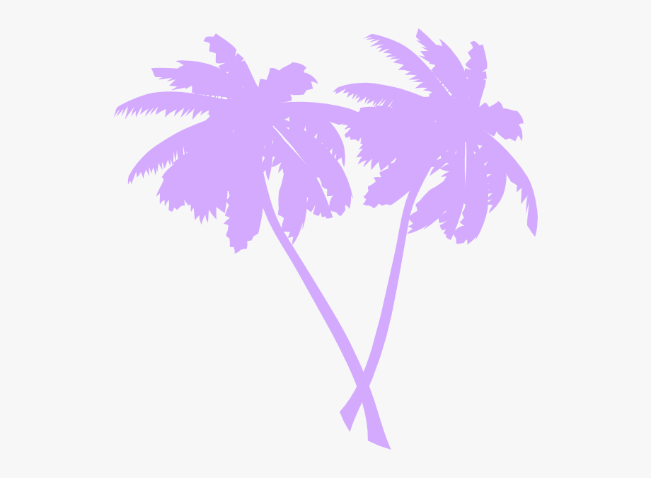 Purple coconut. Colorful clipart palm tree