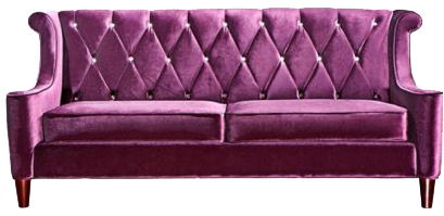Purple couch png. A tufted sofa with
