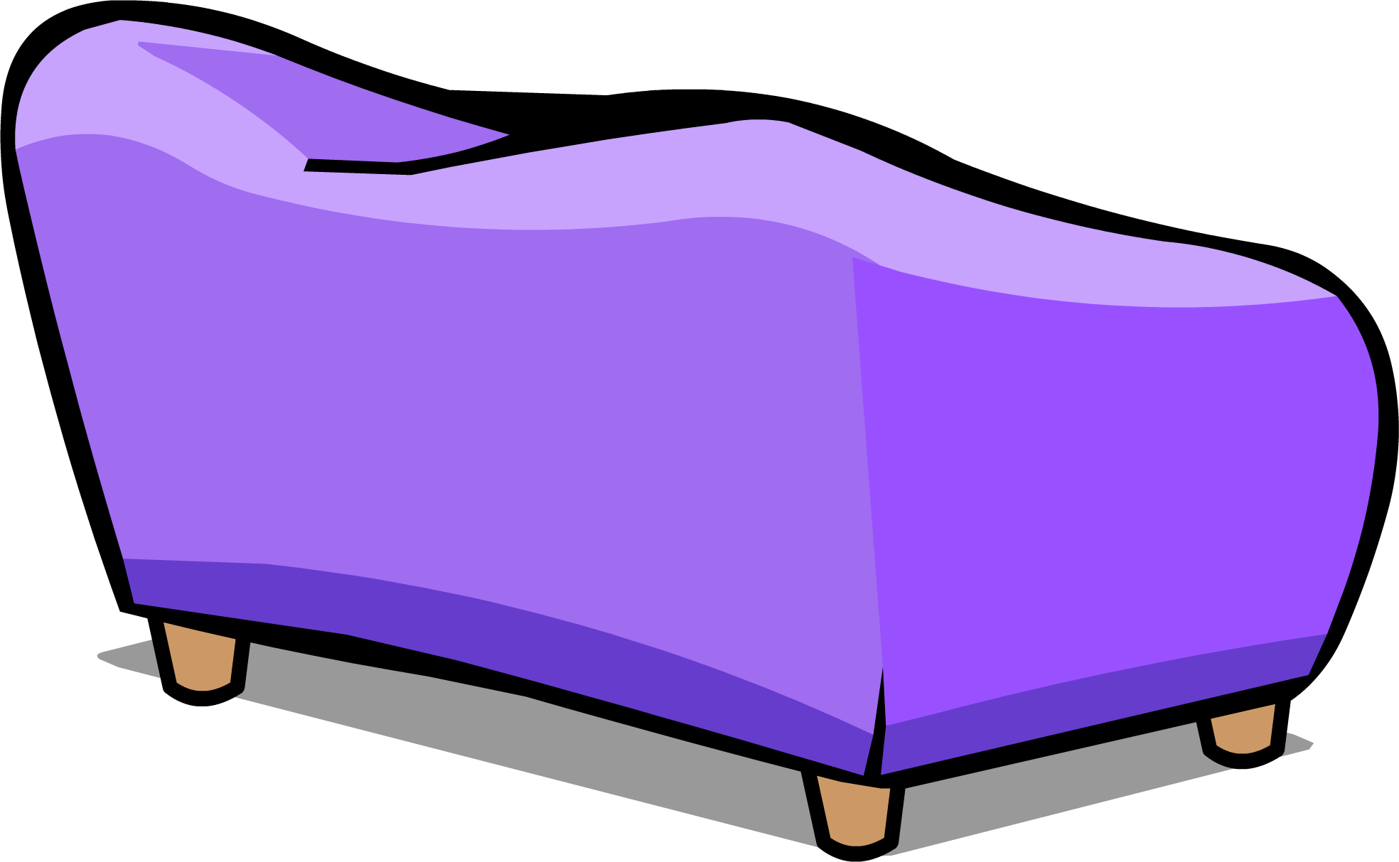 Purple couch png. Image sprite club penguin