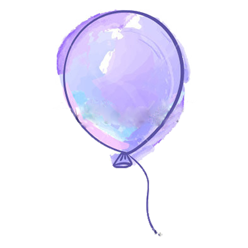 Purple drawing. Balloon transprent png free