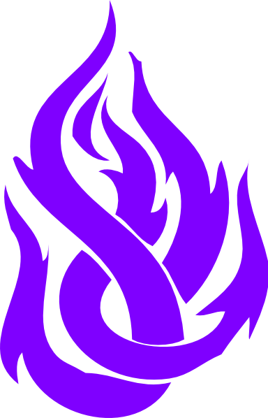 Tribal transparent fire. Blue purple free icons