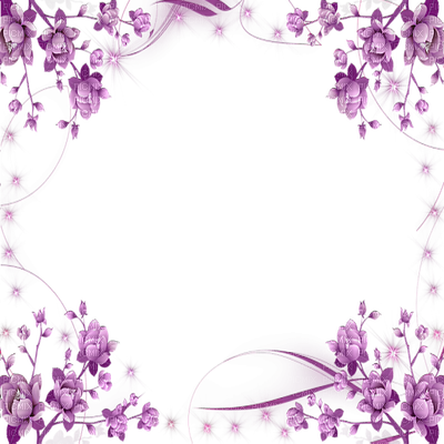 Purple flower border png. Clipart images may flowers