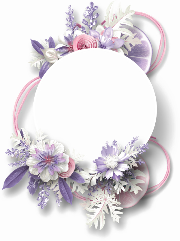 Purple flower border png. Floral free download arts