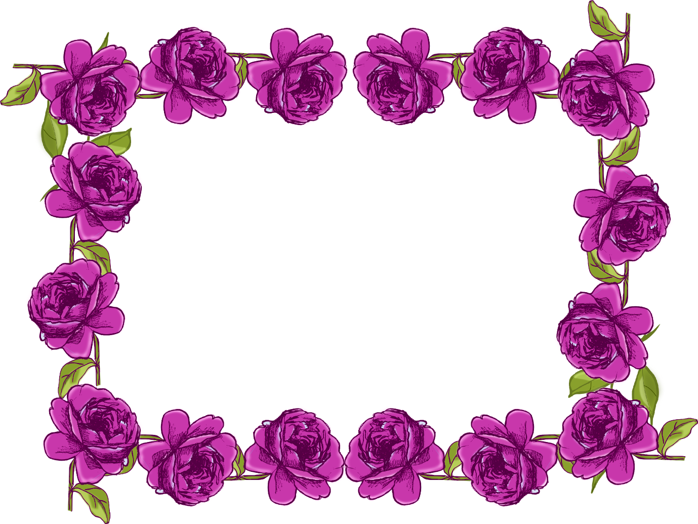 Purple flower border png. Borders and frames free