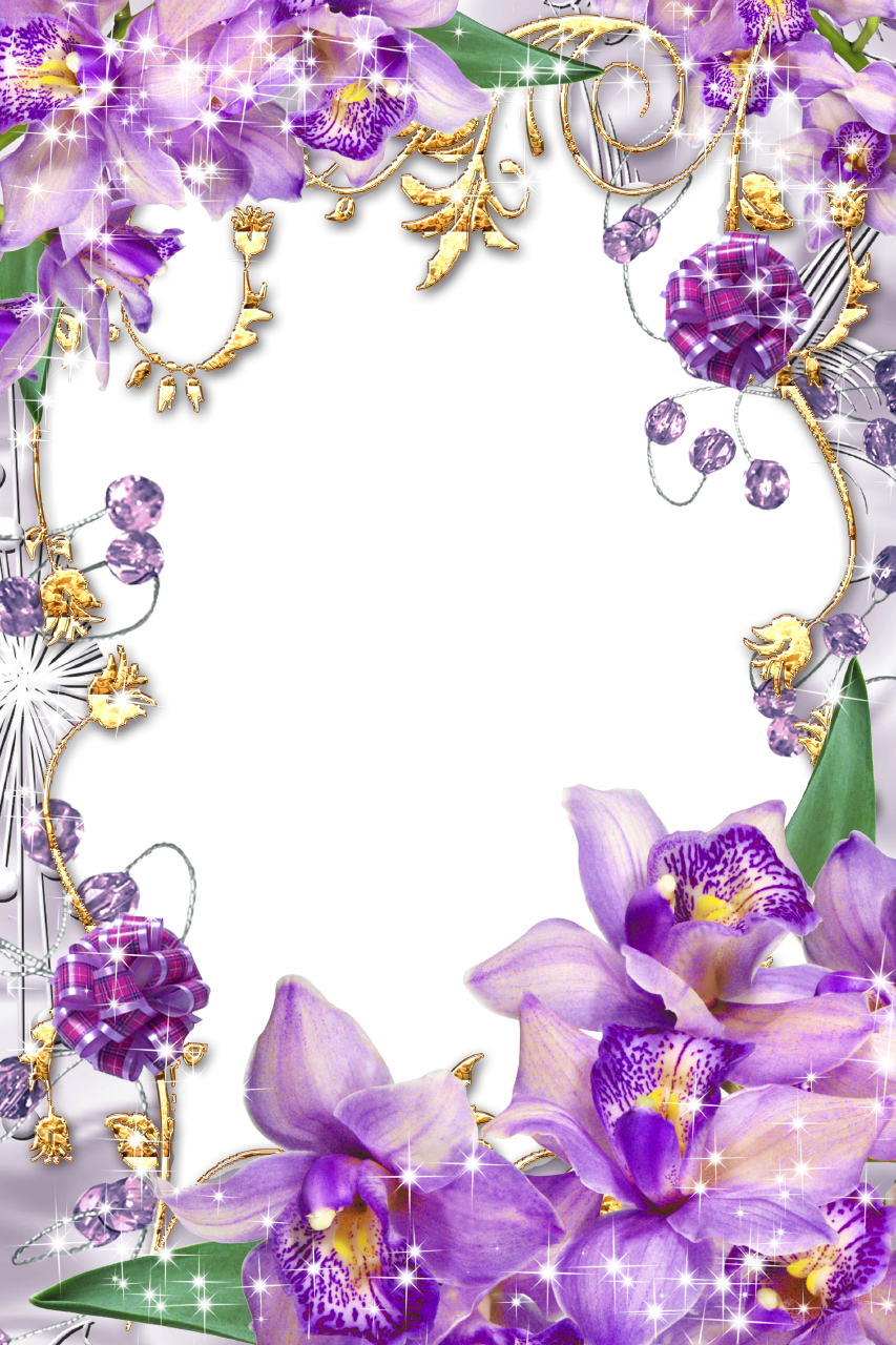 Purple flower border png. Borders and frames flowers