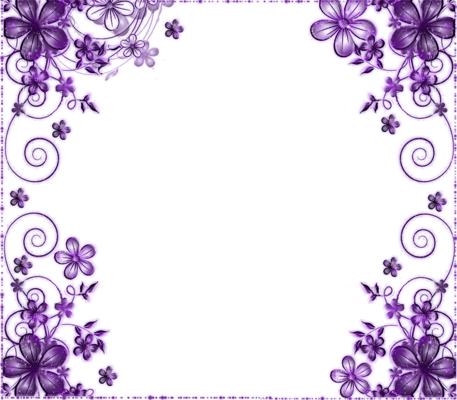 Purple flower border png. Transparent pictures free icons