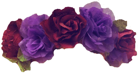 Purple flower crown png. Overlays transparent tumblr flowers