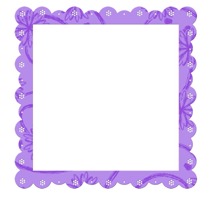 Purple frame png. Transparent with flowers elements