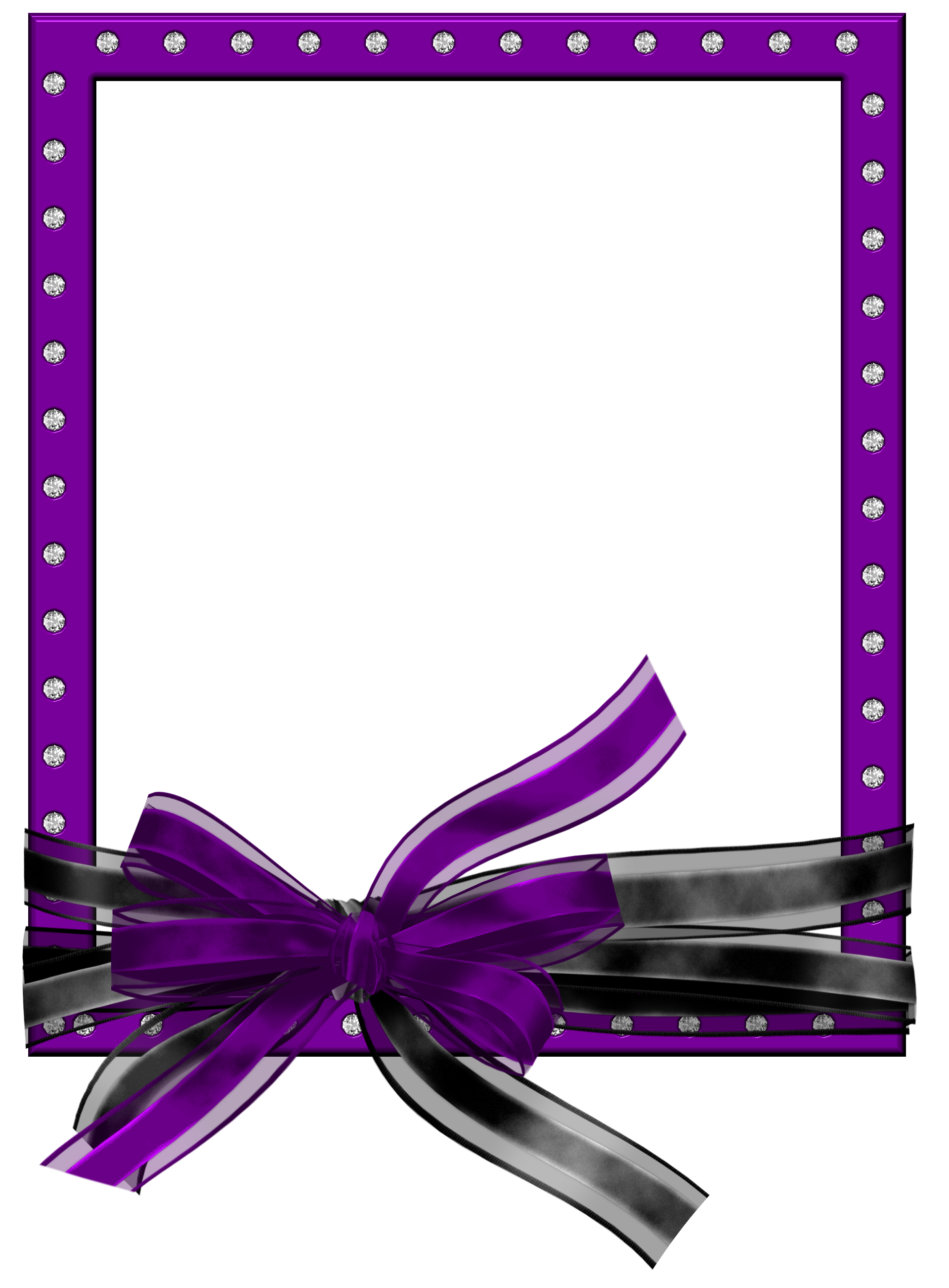 Purple frames png. Frame with ribbon photo