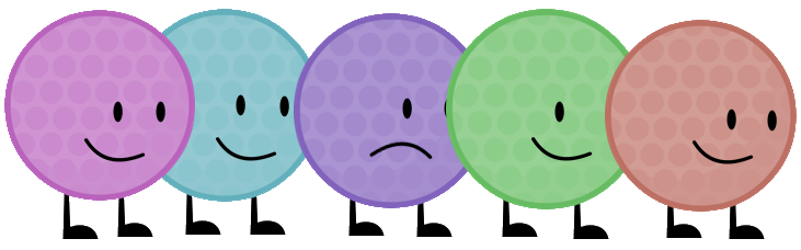 Purple golf ball png. Bfdi a character s