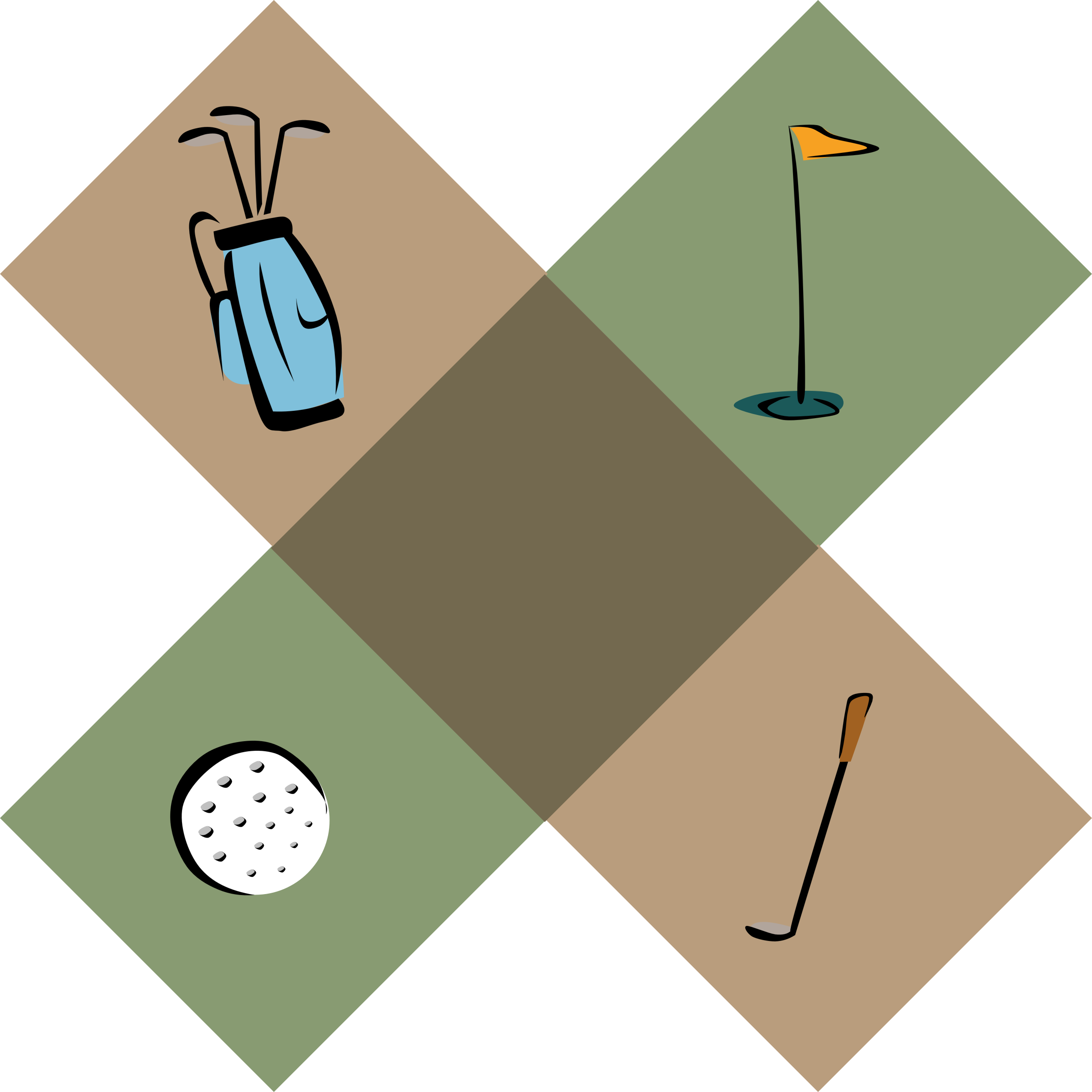 Golf clip border. Decoration icons png free