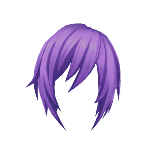 Purple hair png. Image anime yandere simulator