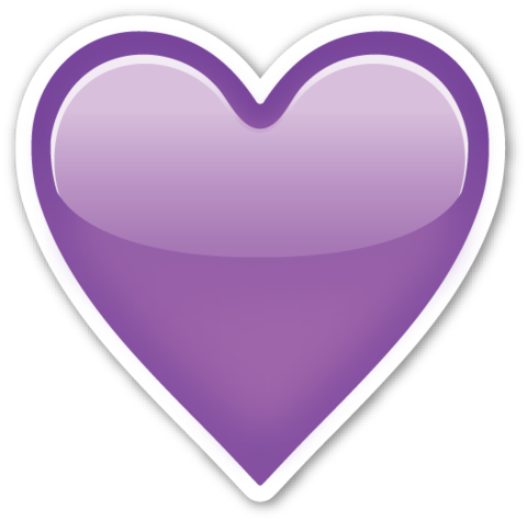 Purple heart emoji png. Pinterest and stickers if