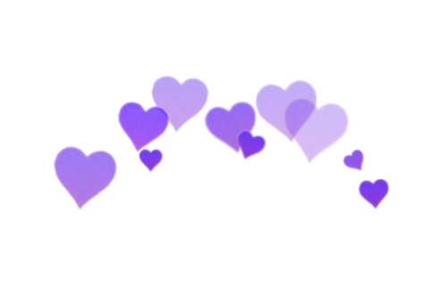 Purple hearts png. Heart crown discovered by