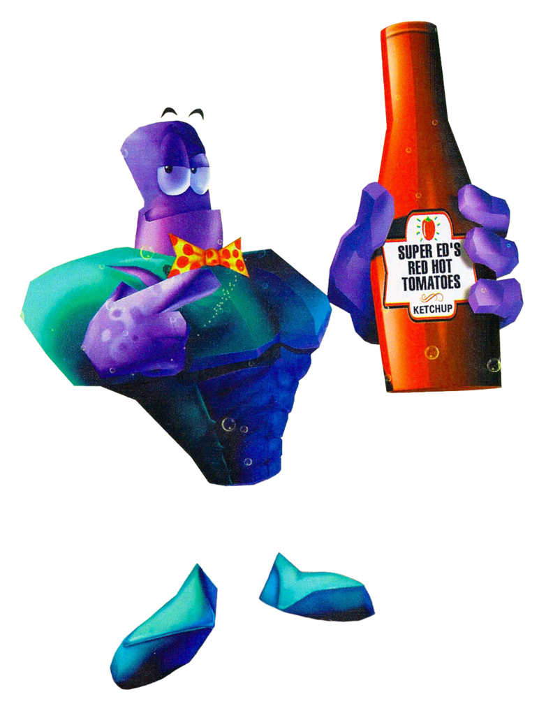 Purple ketchup png. Tonic trouble ed super