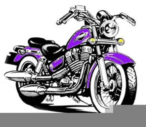 Purple motorcycle. Clipart harley free images
