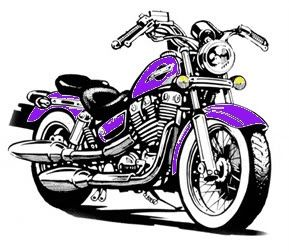 Purple motorcycle. Harley davidson clipart a