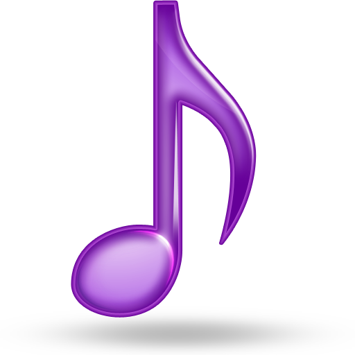 Purple music note png. Musical image royalty free