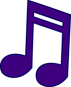 Music note clipart purple. Clip art at clker