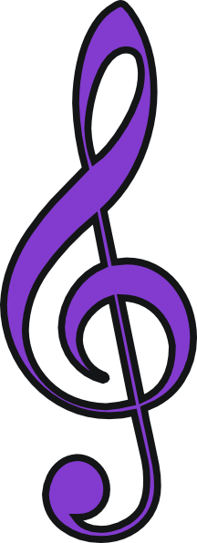Purple music note png. Clip art at clker