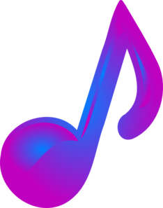 Music note clipart purple. And blue clip art