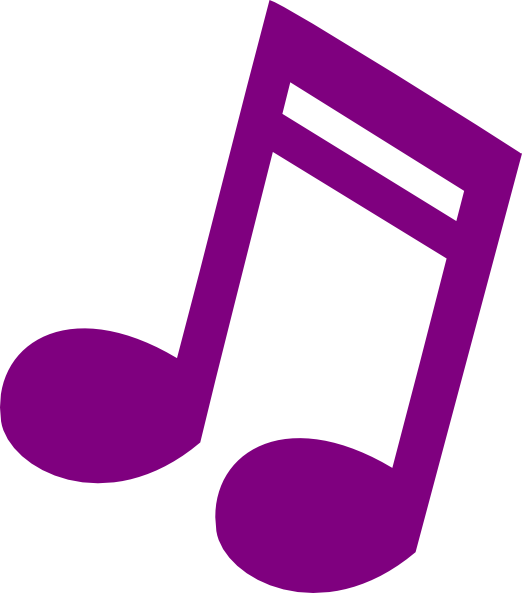 Purple music note png. Musical clip art at