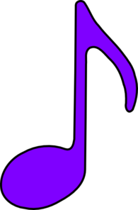 Music note clipart purple. Eighth clip art at