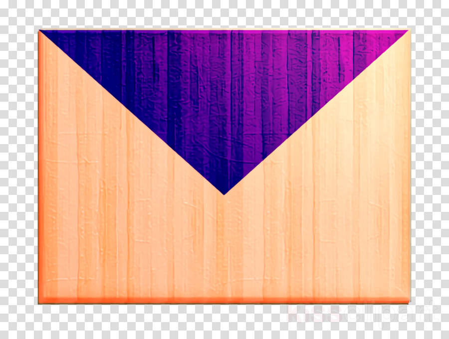 Purple orange. Communication icon email envelope